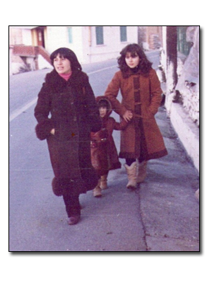 with my daughters Marianna and Kalina, Hortiatis of Tessaloniki, 1983