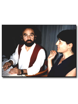 with Yannis Ifantis at the 2nd Mediterranean poetry, Kavala (Greece), 1996