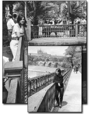 student and tour guide, Karlovy Vary and Prague, 1967-68
