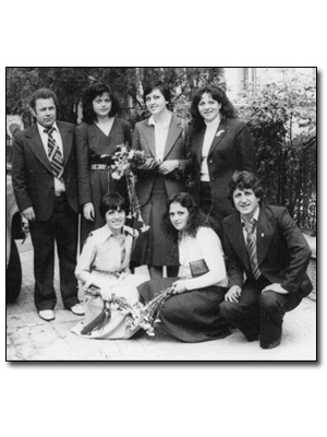 with colleagues, Haskovo (Bulgaria), 1976