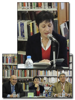 "C. Dima: during the presentation of the book ""Solitude is azure"""